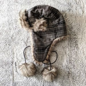 Plaid Winter Bomber Hat